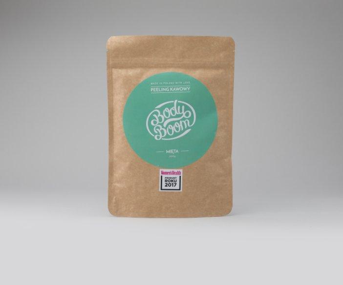 Body Boom - Peeling kawowy Rześka Mięta o orzeźwiającym zapachu i wygładzającym działaniu