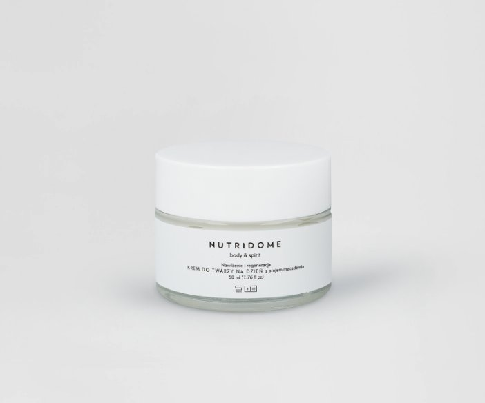 Nutridome - Nawilżający krem do twarzy na dzień z olejem makadamia