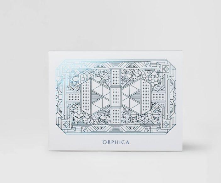 Orphica - Zestaw zawierający: serum pod oczy, kredkę do oczu (brązowa) i eyeliner w kredce (czarny)