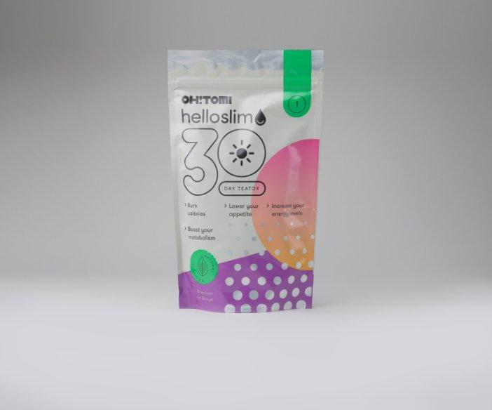 Oh!Tomi -  Dwustopniowy teatox w formie ziołowo-owocowej herbaty na dzień i na noc Hello Slim