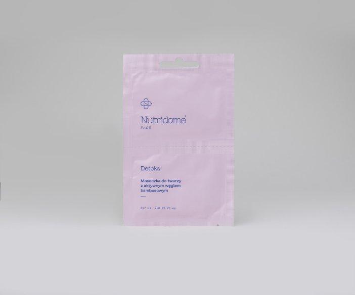 Nutridome - Maseczka do twarzy z aktywnym węglem bambusowym