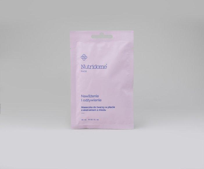 Nutridome - Maseczka do twarzy w płacie z ekstraktem z miodu o nawilżająco-odżywczym działaniu