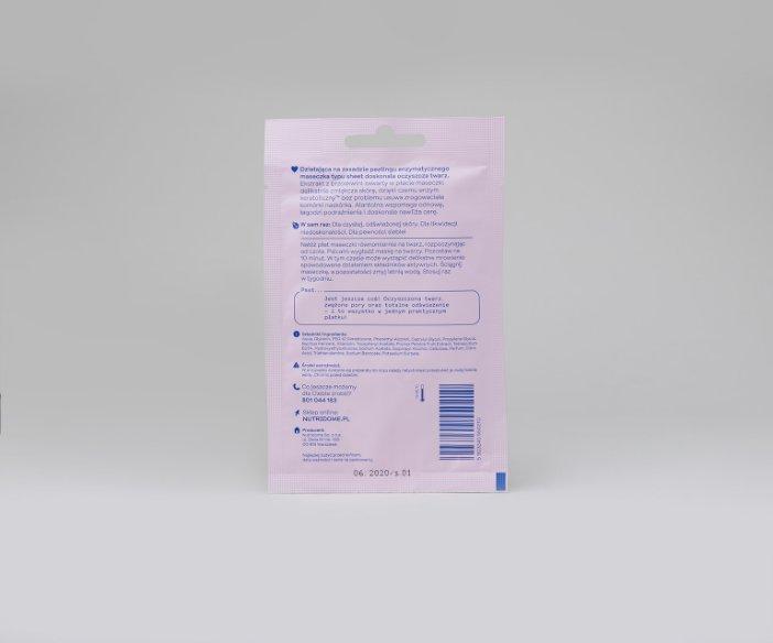 Nutridome - Głeboko oczyszczajaca maseczka do twarzy w płacie z ekstraktem z brzoskwini
