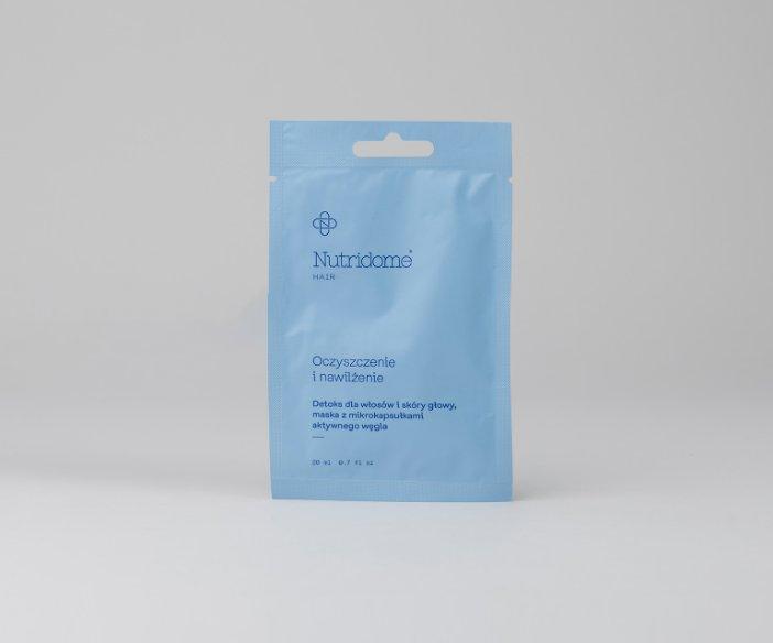 Nutridome - Detoks dla włosów i skóry głowy z mikrokapsułkami aktywnego węgla