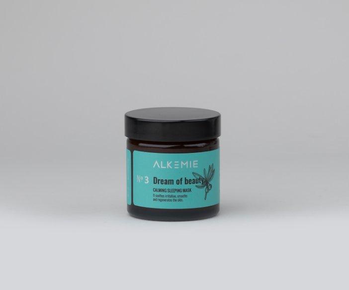 Alkemie - Wyciszająca nocna maska-krem, która łagodzi podrażnienia, wygładza i regeneruje skórę