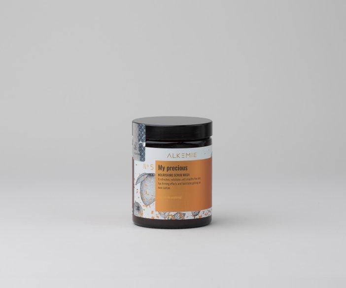 Alkemie - Odżywczy peeling myjący do ciała ułatwiający równomierne opalanie