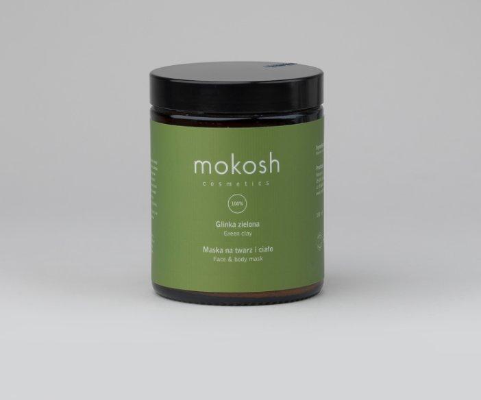 Mokosh - Maska do twarzy i ciała - glinka zielona z cennymi związkami mineralnym o działaniu regenerująco-oczyszczającym