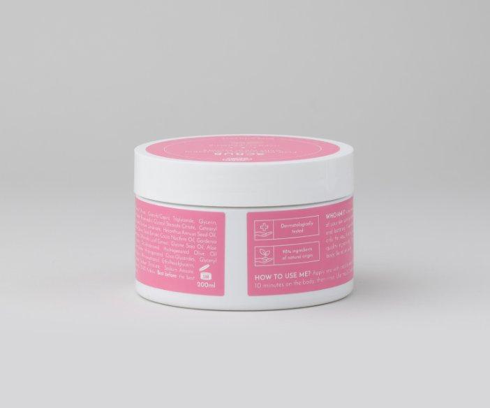 Body Boom - Peeling dla kobiet w ciąży i karmiących dla wrażliwej i skłonnej do niedoskonałości skóry
