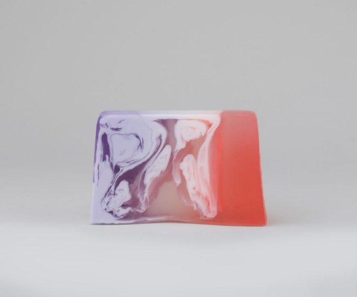 Oh!Tomi - Oczyszczająca pianka do mycia ciała o zapachu tęczy + glicerynowe mydło w kostce Happy Volcano