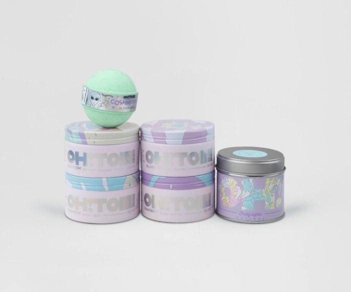 Oh!Tomi - Relaksacyjny zestaw aromatycznych kosmetyków ze świecą zapachową