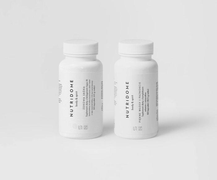 Nutridome - Zestaw suplementów dla zdrowia i urody skóry, włosów i paznokci